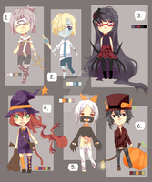 Halloween Adoptables (OPEN REDUCED PRICE!!) by kittsay