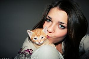 My cat and I by RebecaJuditDESIGNS