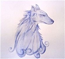 Watercolour Wolf by Elrohr