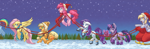 Dashing Through The Snow by albinosharky