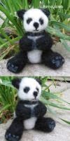 Needle Felted Panda Bear OOAK by WhimsyWeb