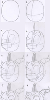 How to Draw Spyro's Head by TrainerSpyro