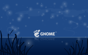 Quiet Night - GNOME widescreen by pookstar