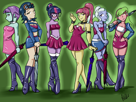 Shadowbolt Race Queens By Madpuffins by danteshadow1