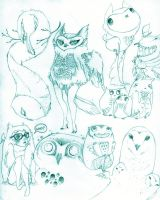 owls by Harmony-Jade