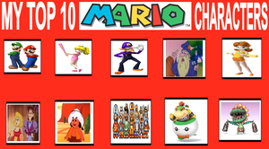 Jacob's Top 10 Mario Characters by jacobyel
