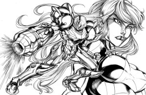 Samus Aran by Inker-guy