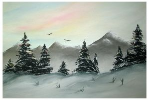 Winter landscape by Alena-48