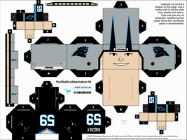 Luke Kuechly Panthers Cubee by etchings13