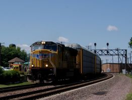 UP 3836 East at Rochelle by JamesT4