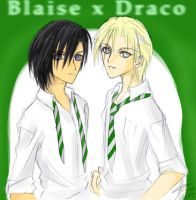 ohthecrapness: Blaise x Draco by aesthetica