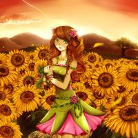 Sunflowers Horizont by IndI-Art