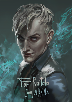 Draco Malfoy (commission) by AlekinaArt
