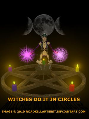 Witches Do It In Circles by roadkillarteest