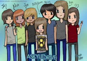 A Skylit Drive Group by winter-ame