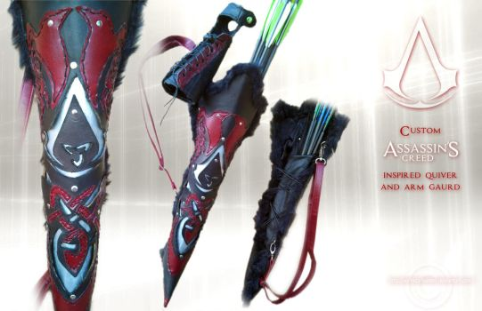 Custom Assassin's Creed inspired quiver set by Aerindarkwater
