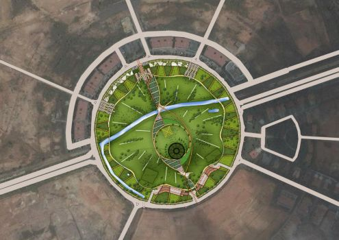 town park plan by 870307