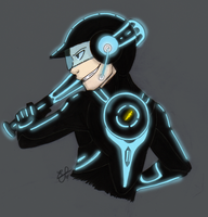 TF2-Tron Scout by HoneyAppleNinja