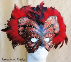 Butterfly masquerade mask by Alyssa-Ravenwood