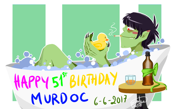 [Gorillaz] Happy Birthday Murdoc by XxkaibutsukoxX