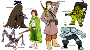 Red Divide - Early Character Concepts by Atomic-Chinchilla