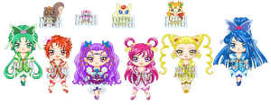 ChibiP: Yes! Pretty Cure 5 GoGo! by blknblupanther