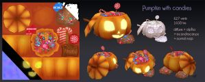 Pumpkin with candies by Elo-Doudoune