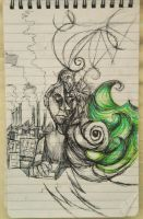 Notepad Sketches 1 by krimsongrace57