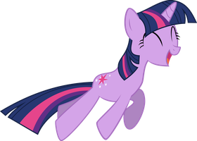 Twilight Happy Jump Vector by StarshineCelestalis
