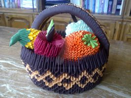 Origami fruit basket 2 by KibaPandaRo