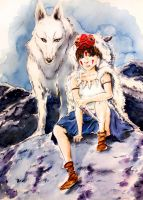 Princess Mononoke by twillis