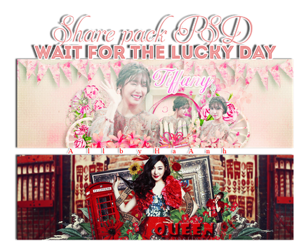 Share Pack PSD wait for the lucky day by JessicaCat123