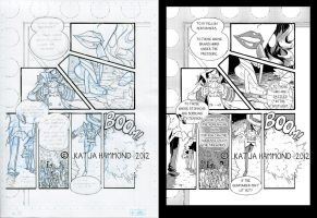 Artist's Log 005: Inking by MagpieFreak