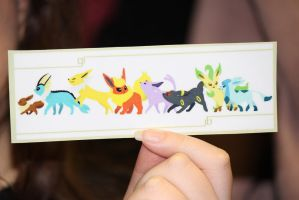 Eeveelutions Bookmark by PikaYugi4Ever93