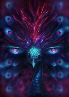 All seeing peacock by LouisDyer