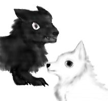 black and white/ying and yang 2 by JoceGurr