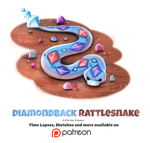 Day 1393. Diamondback Rattlesnake by Cryptid-Creations