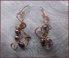 More Fabulous Asymmetry Wire Wrap Earrings by balthasarcraft