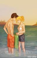 Percy And Annabeth by illustrationrookie