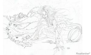 Zyra pencil sketch by Pinseltierchen