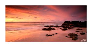 byron bay sunset by dannyp5000