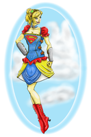 Steampunk Supergirl by vancise