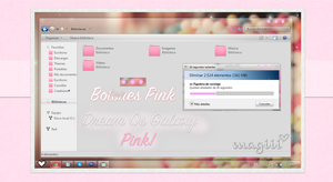 Dream Os Galaxy Pink For Windows 7 by MagiiiAsdfghjkl
