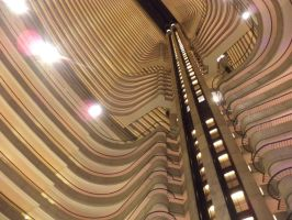 The Marriot at Dragoncon from below by ImBillPardy