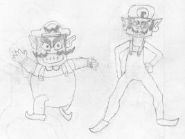 Wario and Waluigi by Maklods