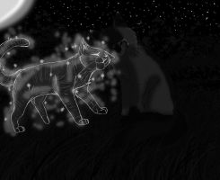 Graystripe and Silverstream . by IsharaHeart