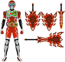 2nd Place: Kamen Rider Merc by Omega-King-DX