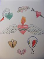 Hearts flash Sheets by A-Midnight-Oprea