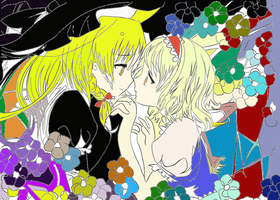 Touhou - Alice and Marisa by Airkey