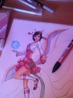 Dynasty Ahri League of Legends: Markers by Eli150693